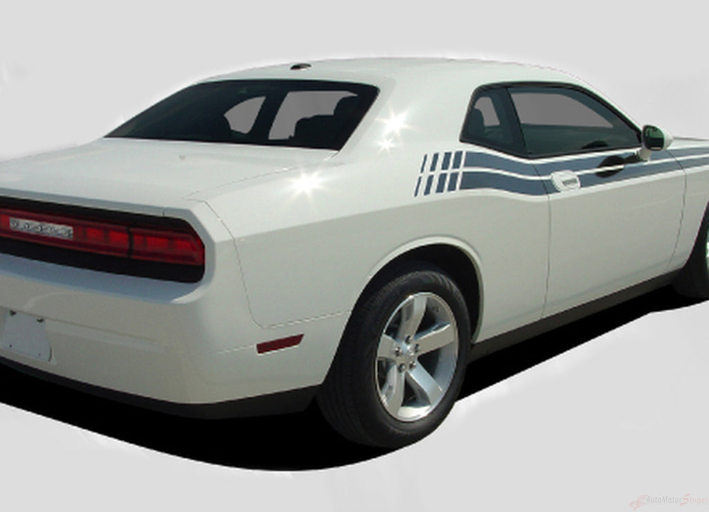 2008-2010 and 2011-2021 Dodge Challenger Duel Mopar Factory Style Strobe R/T Vinyl Graphics Stripes 3M Decal Kit
