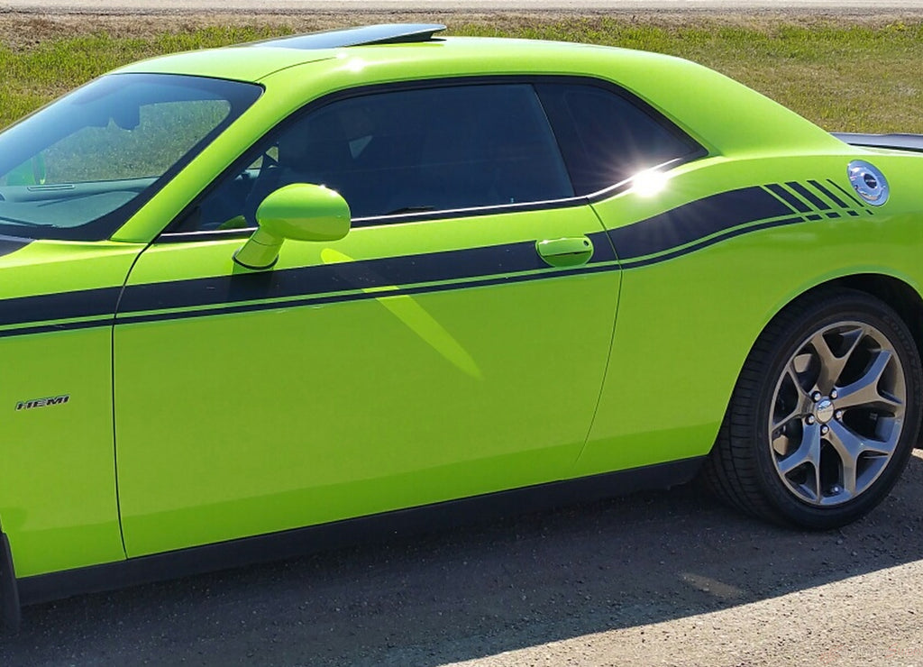2011-2019 Dodge Challenger Duel 15 Mopar Factory Style Strobe R/T Vinyl Graphics Decals 3M Stripe Package