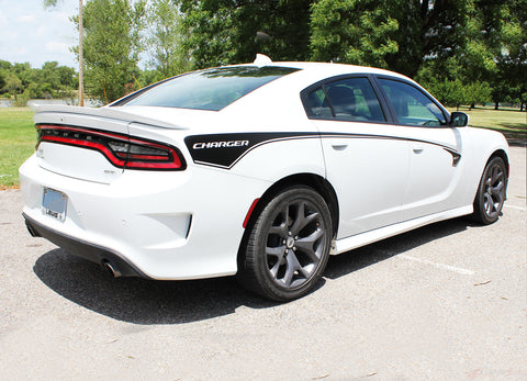 2015 2016 2017 2018 2019 2020 2021 Dodge Charger RILED Side Body Door Decals Vinyl Graphics 3M Stripes Kit