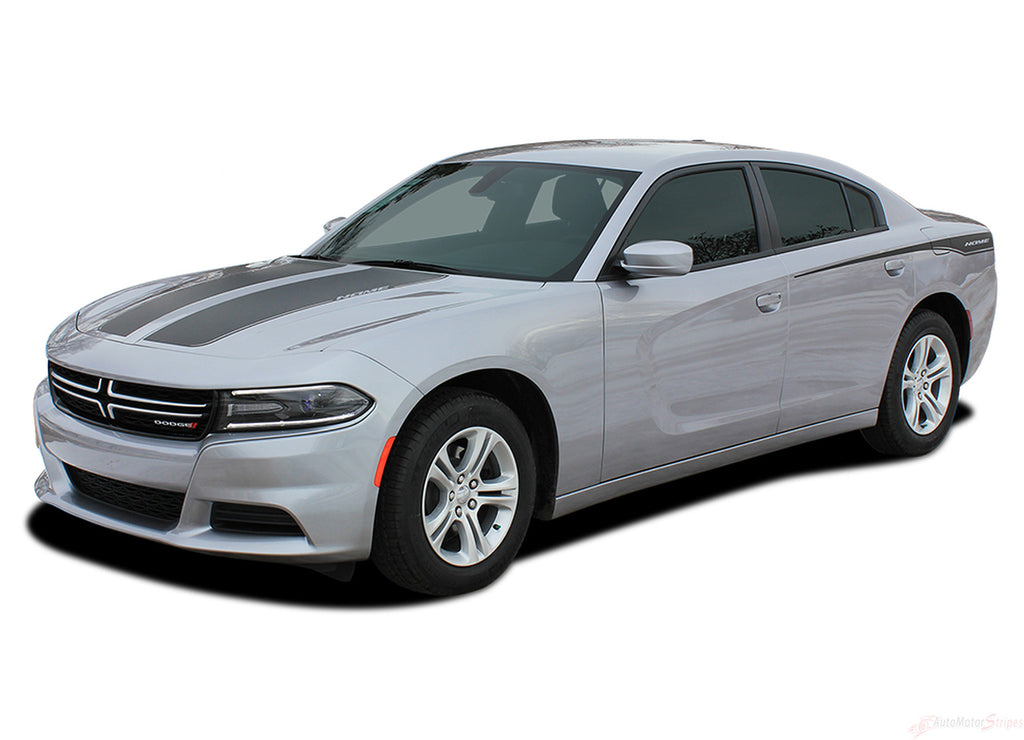 2015-2020 Dodge Charger Recharge 2 Combo Hood and Door Sides Factory Style Vinyl Graphics Stripes 3M Kit