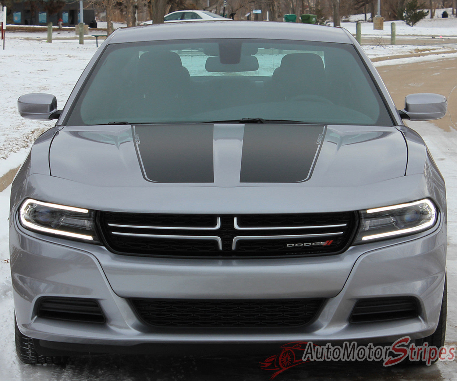 Dodge dodge charger with wing : 2015-2018 Dodge Charger Split Hood Stripes Vinyl Graphic Decals 3M ...