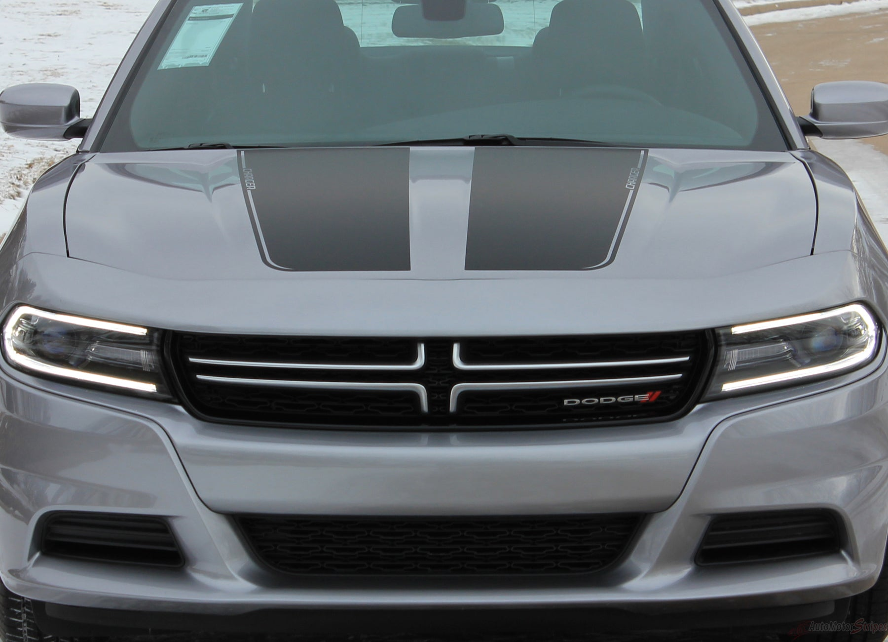 Dodge Charger 2015 2016 2017 2018 2019 Hood Center Accent Decal Stripe