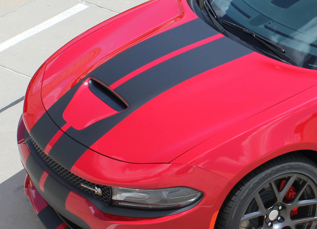 2015-2018 Dodge Charger N-Charge Rally S-Pack R/T Scat Pack SRT 392 Hellcat Factory Quality Mopar Style Vinyl Racing Stripes 3M Graphic Kit