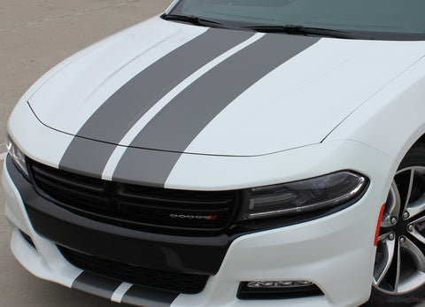 2015 2016 2017 2018 2019 2020 2021 Dodge Charger N-Charge Rally Factory Quality Mopar Style Vinyl Racing Stripes 3M Graphic Kit