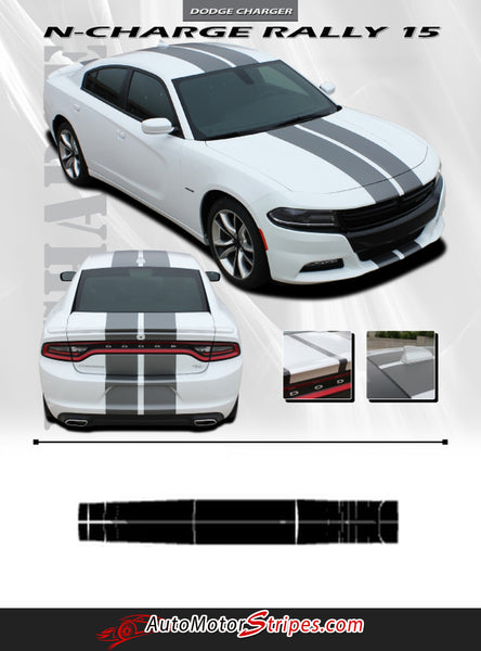 2015 2018 Dodge Charger Racing Stripes N Charge Decals