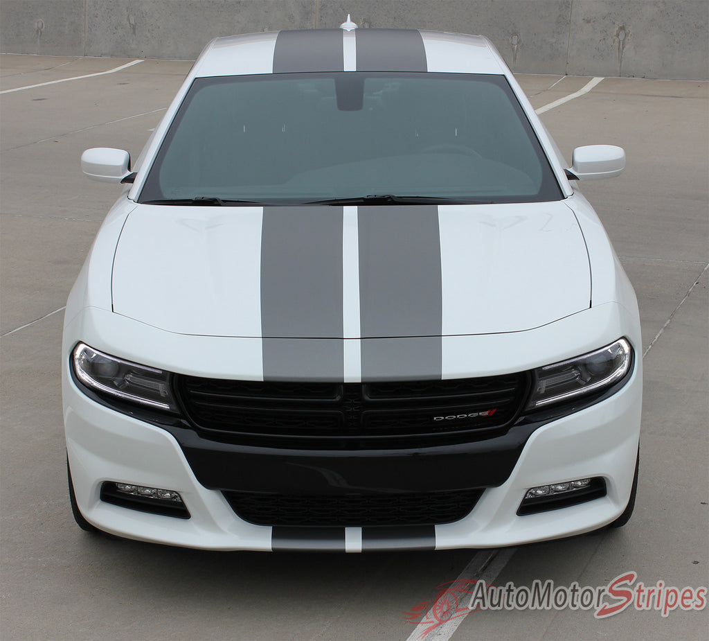 2015-2017 Dodge Charger N-Charge Rally Factory Quality Mopar Style Vinyl Racing Stripes 3M Graphic Kit