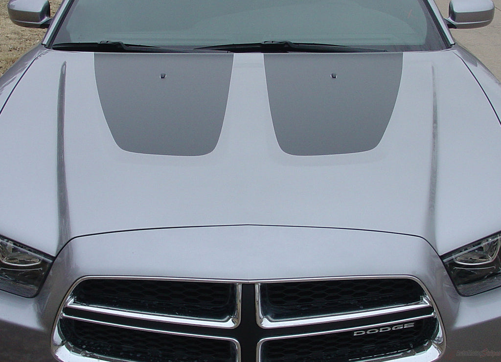 2011-2014 Dodge Charger Split Hood Mopar Factory Style Vinyl Graphics 3M Stripe Decal