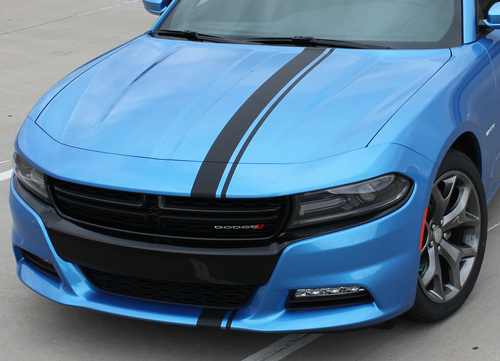 2015-2018 Dodge Charger E-Rally Euro Style Vinyl Graphics Racing Stripes Kit 3M Factory Quality