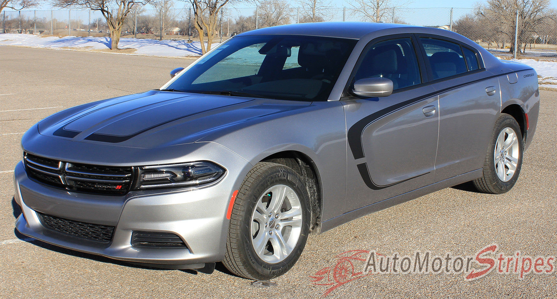 2015 2017 Dodge Charger C Stripe Combo Hood And Door Sides