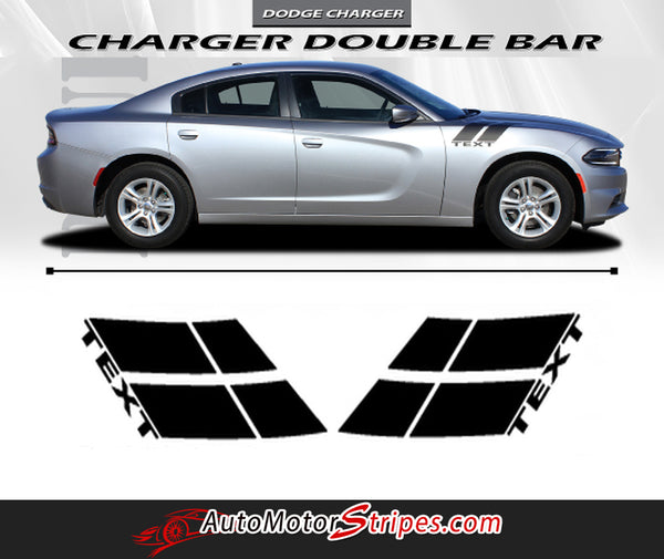 2015 2018 Dodge Charger Double Bar 15 Hood Hash Marks