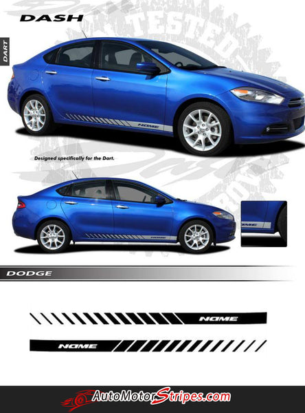 2013-2016 Dodge Dart Stripes Rocker Door Decals DASH Vinyl ...