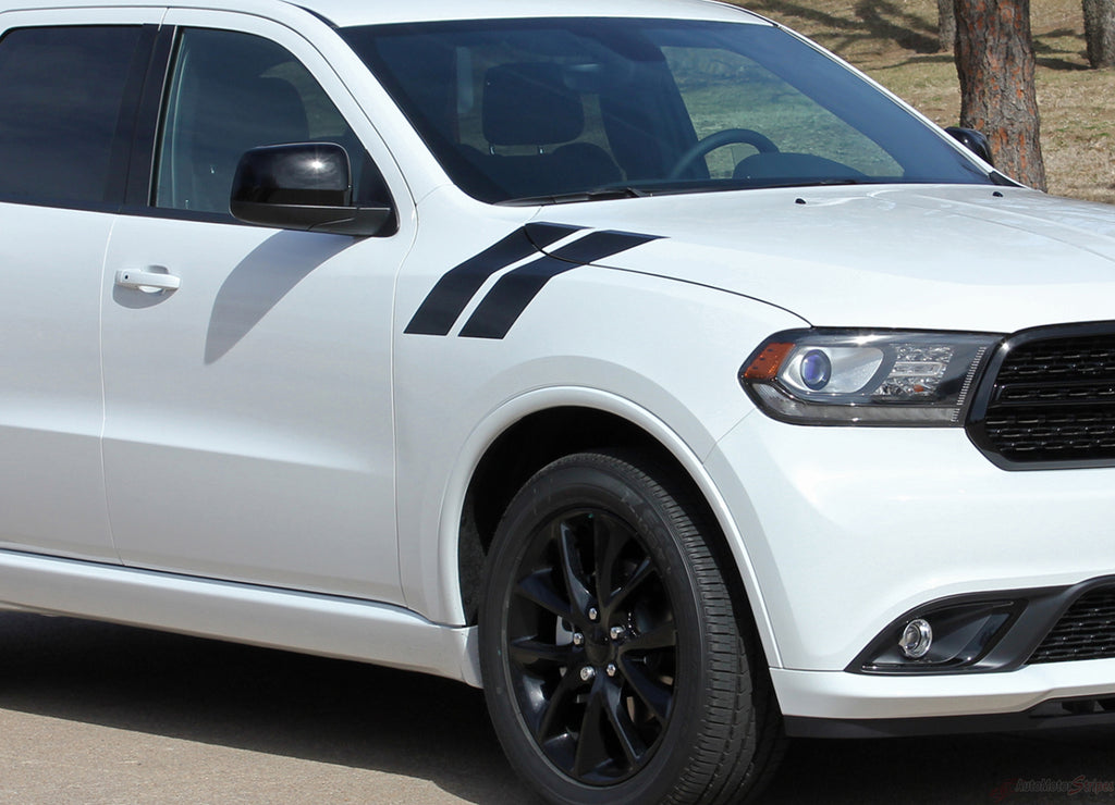 2011-2018 Dodge Durango Hash Mark Stripes Double Bar SUV Hood Fender Vinyl Graphic 3M Package