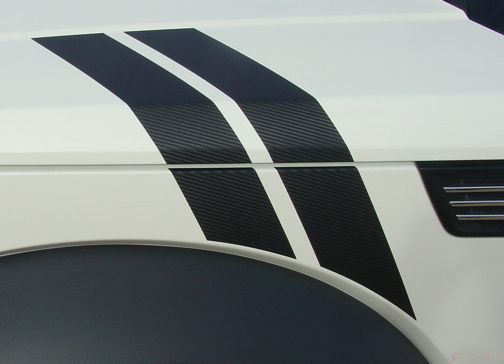 2007-2012 Dodge Nitro Double Bar Hash Marks Mopar Style Hood 3M Vinyl Graphics Stripes Decals