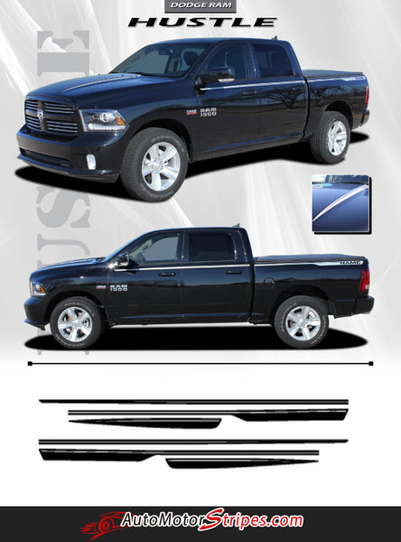 2009 2018 Dodge Ram Truck Graphics Vinyl Side Stripes