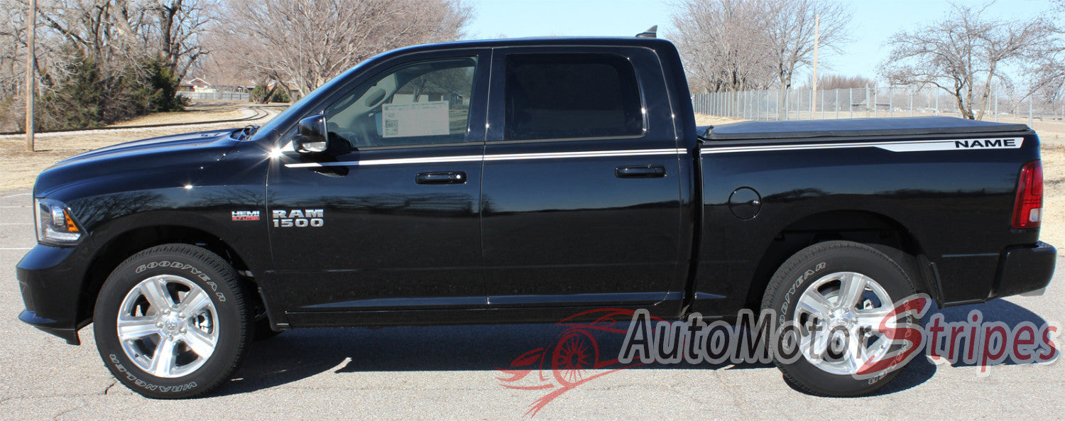 Dodge Ram Truck Graphics Vinyl Side Stripes Decals - Truck bed decals custombody graphicsdodge ram