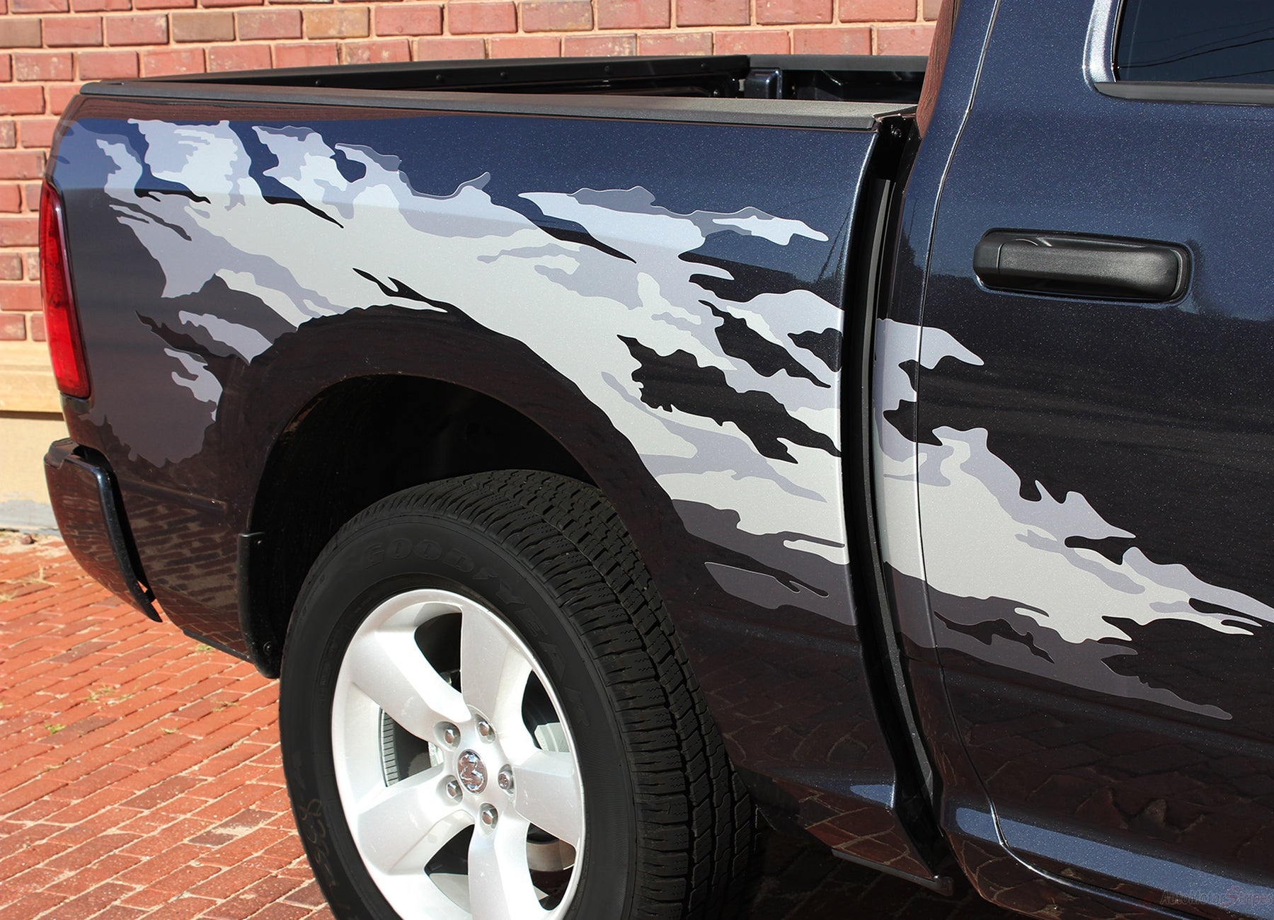 2009 2018 Dodge Ram Bed Graphics Rage Multi Color Digital Print Decals Auto Motor Stripes Decals Vinyl Graphics And 3m Striping Kits