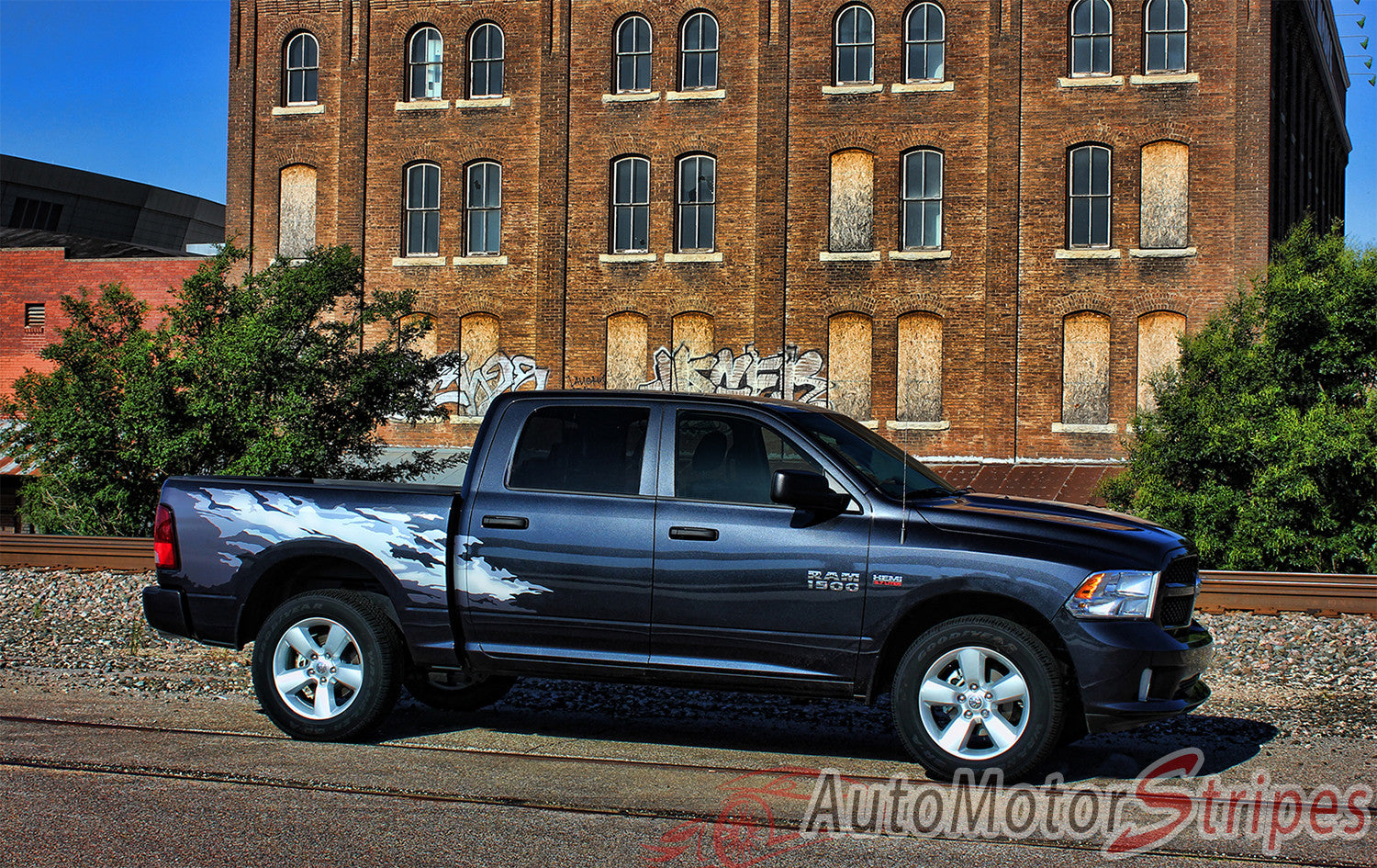 Dodge Ram Bed Graphics RAGE Multi Color Digital Print - Truck bed decals custombody graphicsdodge ram