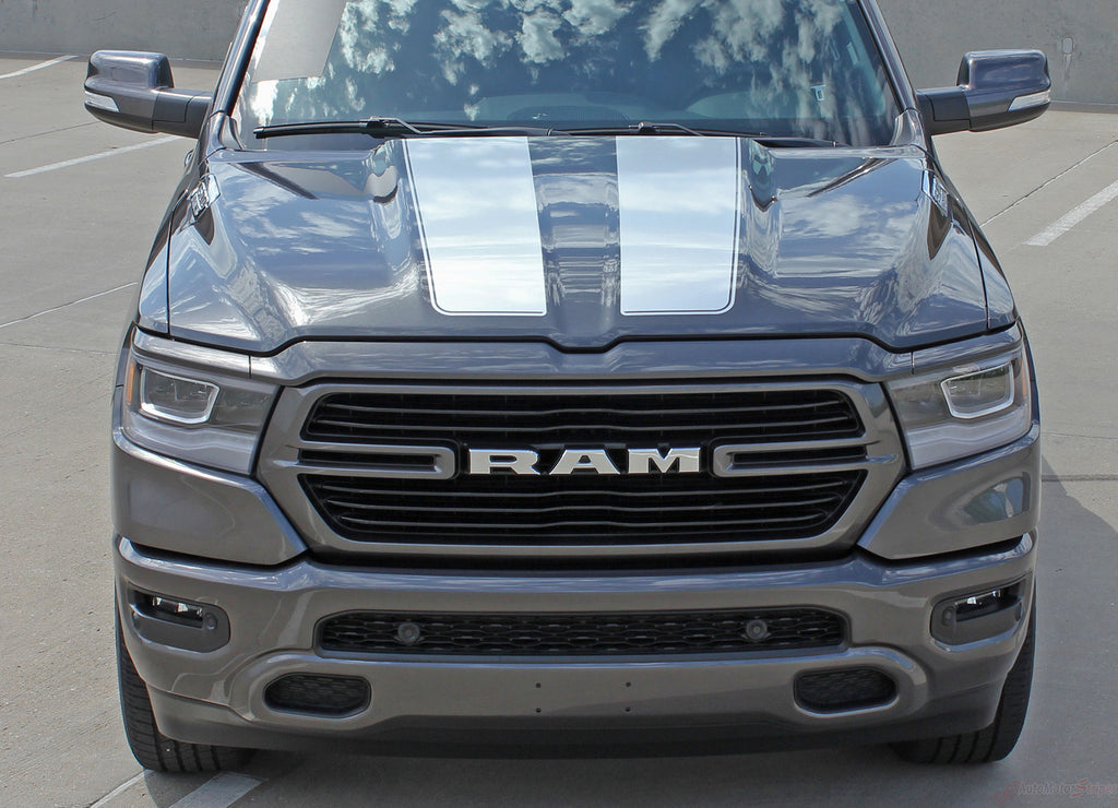 2019-2021 Dodge Ram Racing Stripes Rally Hood Tailgate Truck Decals Vinyl Graphic 3M Stripe Package