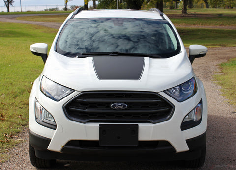 2013-2019 2020 Ford EcoSport AMP Center Hood Accent Vinyl Graphic 3M Stripes Decal