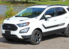 2013-2020 Ford EcoSport Flyout Side Door Stripes and Hood Accent Vinyl Graphic 3M Decal