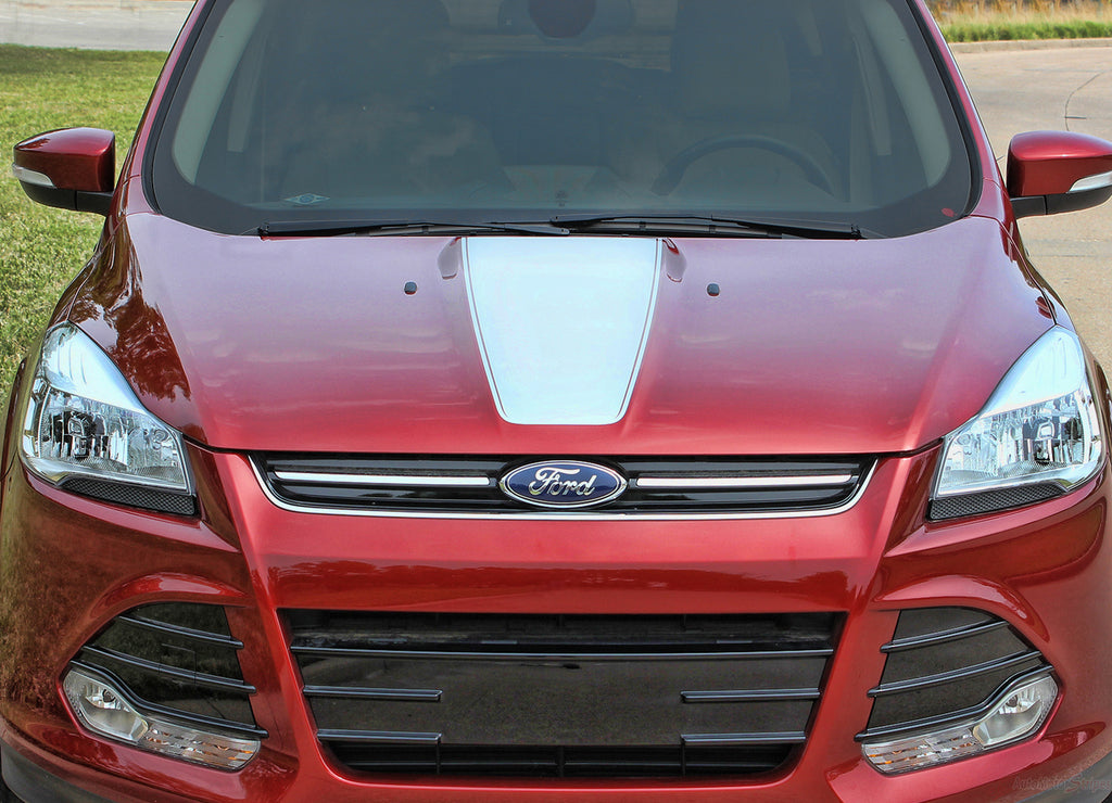 2013-2019 Ford Escape Capture Center Hood Accent Vinyl Graphic 3M Stripes Decal