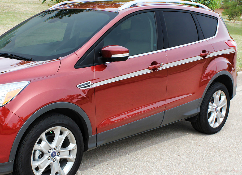2013-2018 Ford Escape Outbreak Mid Door Body Accent Line 3M Vinyl Decal Graphic Stripes