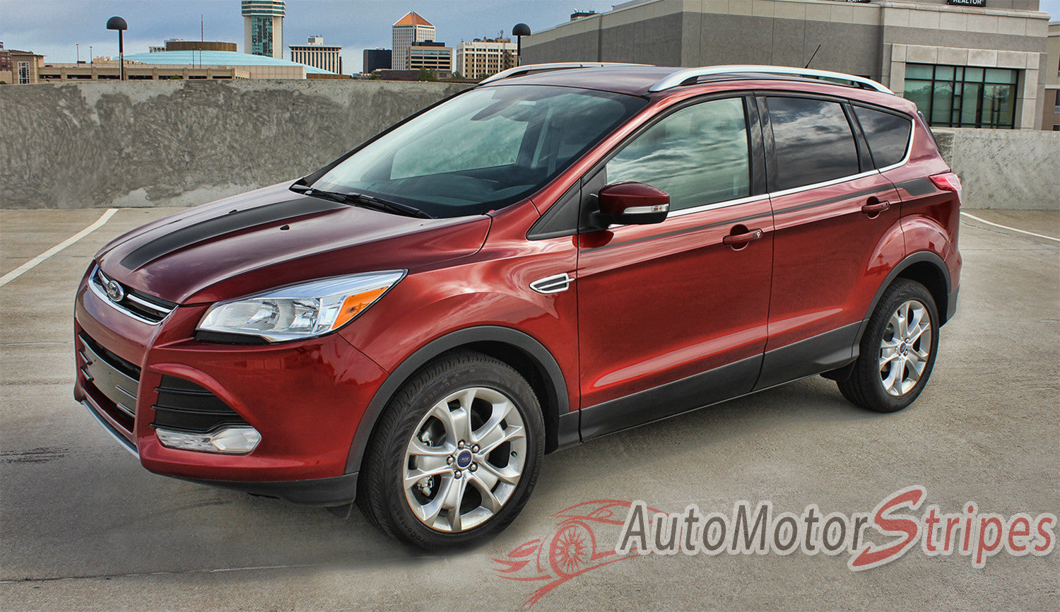 2013 2019 Ford Escape Outbreak Decals Mid Body Line Door Vinyl Graphic Stripes Kit