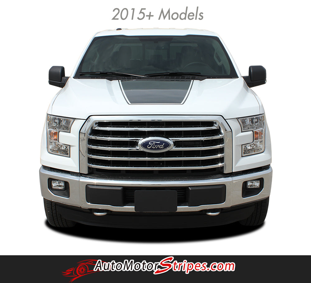 2015 2018 Ford F 150 Graphics Force Hood Vinyl Stripe Decals 3m Pro Auto Motor Stripes