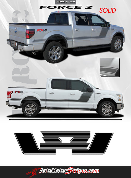 2009 2018 Ford F 150 Stripes Force Two Solid Door Vinyl