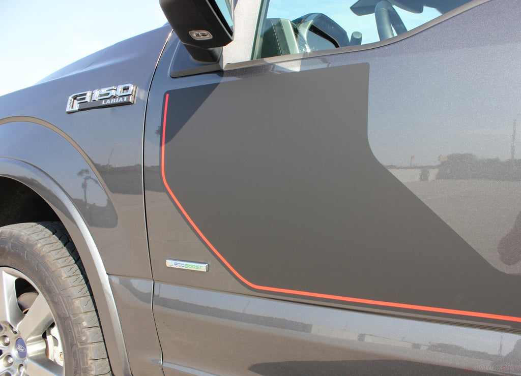 2015-2019 Ford F-150 Sideline Special Edition Appearance Package Style Hockey Stripe Vinyl Decal 3M Graphic