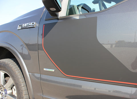 2015-2019 2020 Ford F-150 Sideline Special Edition Appearance Package Style Hockey Stripe Vinyl Decal 3M Graphic
