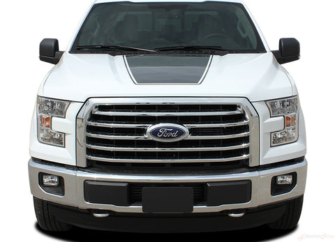 2015-2020 Ford F-150 Force Hood Factory Style Vinyl Decal Graphic Stripes