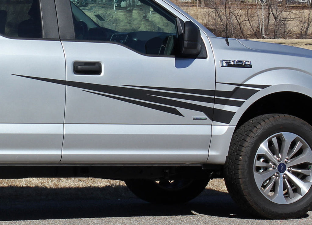 2015-2020 Ford F-150 Apollo Front Fender to Side Door Panel Vinyl Graphics Decals 3M Stripes Kit