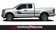 2015 2016 2017 2018 Ford F-150 Eliminator Side Door Panel Hockey Stick Style Vinyl Graphics Decals 3M Stripes Kit
