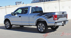 2015-2017 Ford F-150 Rip Truck Bed Mudslinger Style Side Vinyl Graphic Decals 3M Stripes Kit