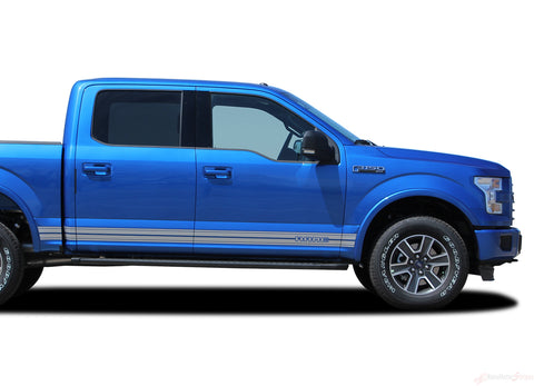 2015 2016 2017 2018 2019 2020 2021 Ford F-150 Rocker Two Lower Rocker Stripes Vinyl Decal 3M Graphics