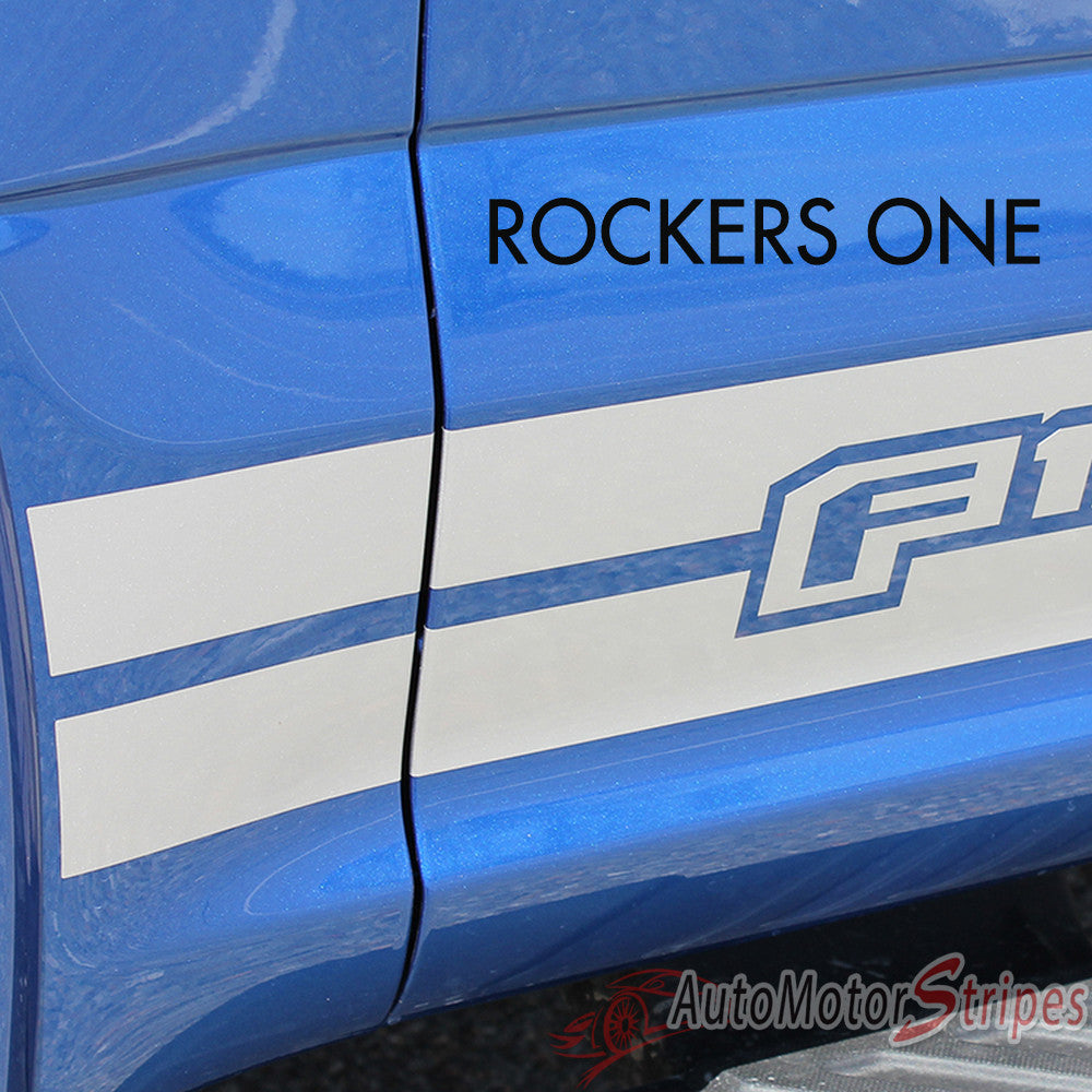2015 2017 Ford F 150 Rocker 1 One Lower Rocker Stripes Vinyl Decal 3m Auto Motor Stripes