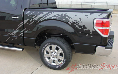 2009 - 2014 Ford F-150 Predator Factory Style Bed Raptor Mudslinger Style Vinyl Decal Graphic 3M Stripes