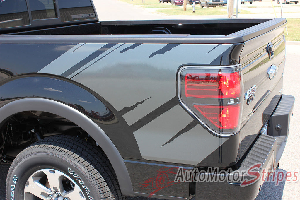 2009 - 2014 Ford F-150 Predator 2 Factory Raptor Style Bed Vinyl Decal Graphic 3M Stripes