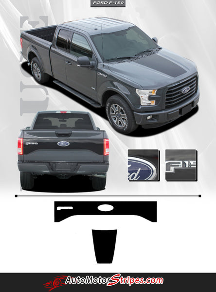 2015-2018 Ford F-150 Decals Rig Hood Tailgate Blackout ...