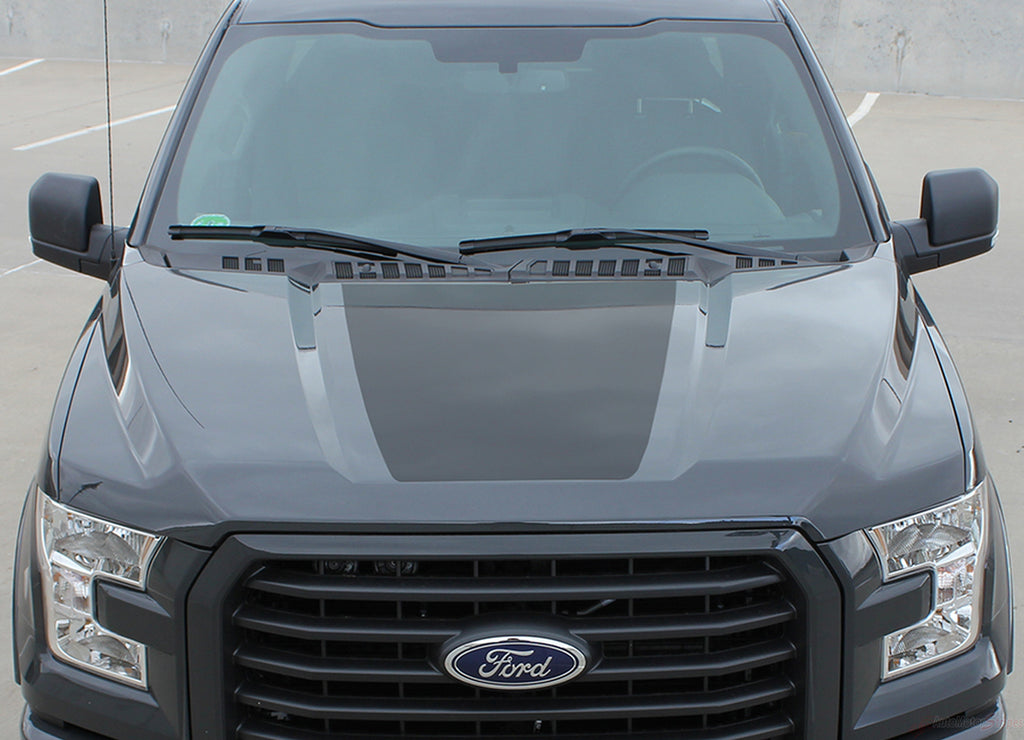 2015-2020 Ford F-150 Route Hood Blackout Vinyl Decal 3M Graphic Stripes