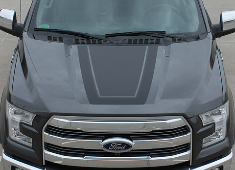 2015-2019 Ford F-150 Quake Hood Factory Tremor FX Style Hood Vinyl Decal Graphic