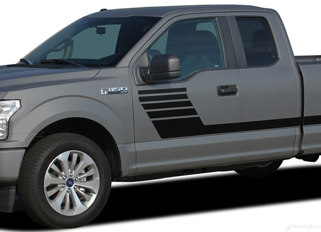 2015-2018 Ford F-150 Stripes Lead Foot New Special Edition Hockey Decals Vinyl Graphic 3M