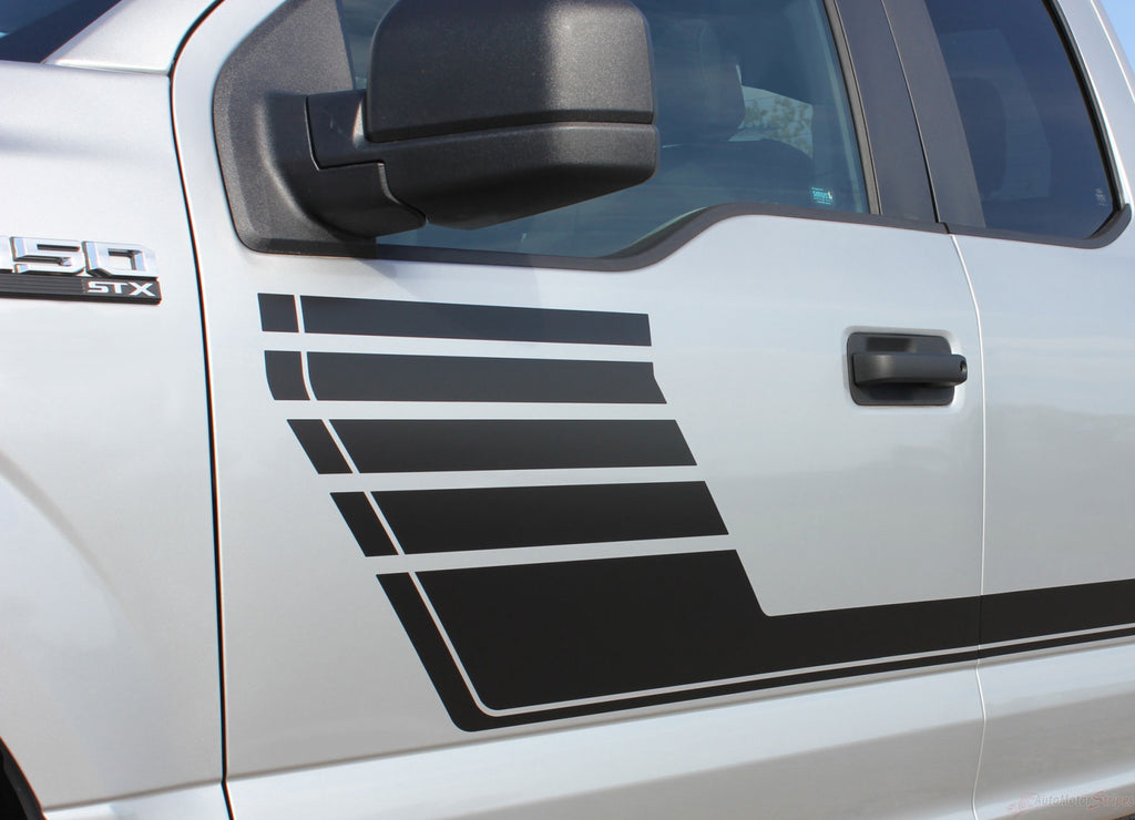 2015-2018 Ford F-150 Speedway Special Edition Lead Foot Stripes Hockey Decals Vinyl Graphic 3M