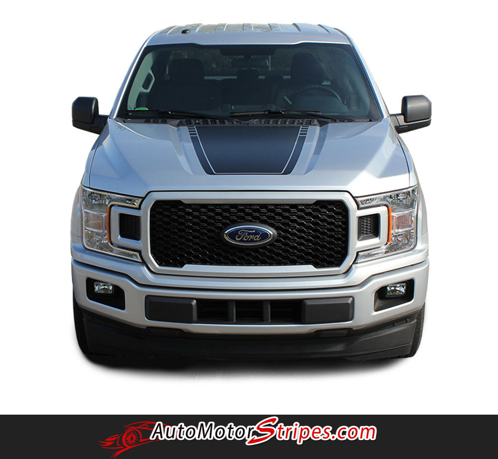 2015-2018 Ford F-150 Decals SW Lead Foot Hood Stripes Graphics Special Ed | Auto Motor Stripes ...