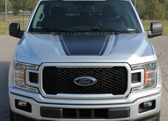 2015-2018 Ford F-150 Speedway Hood Blackout Lead Foot Stripes Decals Vinyl Graphic 3M