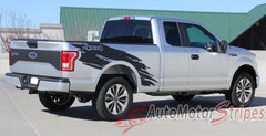 2015 2016 2017 2018 Ford F-150 Torn Truck Bed Mudslinger Style Side Vinyl Graphic Decals 3M Stripes Kit