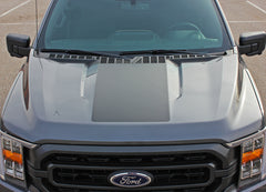 2021 Ford F-150 Hood Stripes Vinyl Hood Spears Decals 3M Graphics - SWAY HOOD
