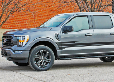 2021 Ford F-150 Side Door Stripes Vinyl Body Decals 3M Graphics - SWAY and SWAY XL