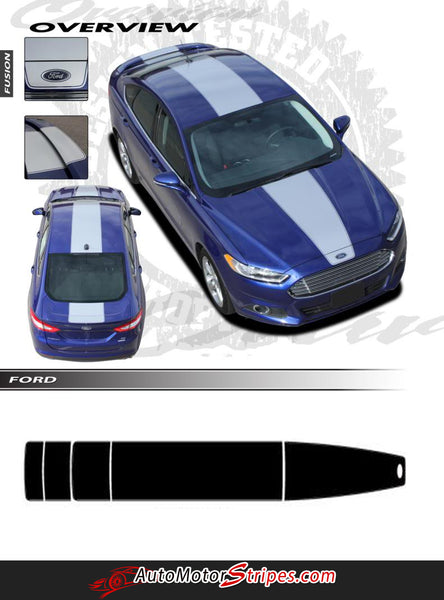 2013 2017 Ford Fusion Decals Center Hood Stripes Overview
